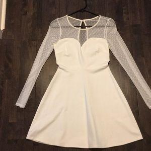 White Lace Sweetheart Dress